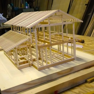 上尾の家 模型製作