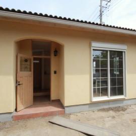 平屋の家 土佐漆喰の外壁